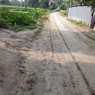 Condition of road before some group of people in the locality made RTI application which had been lying under this condition for long causing immense suffering to the people at large